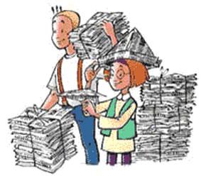 Oud-papier-ophalen